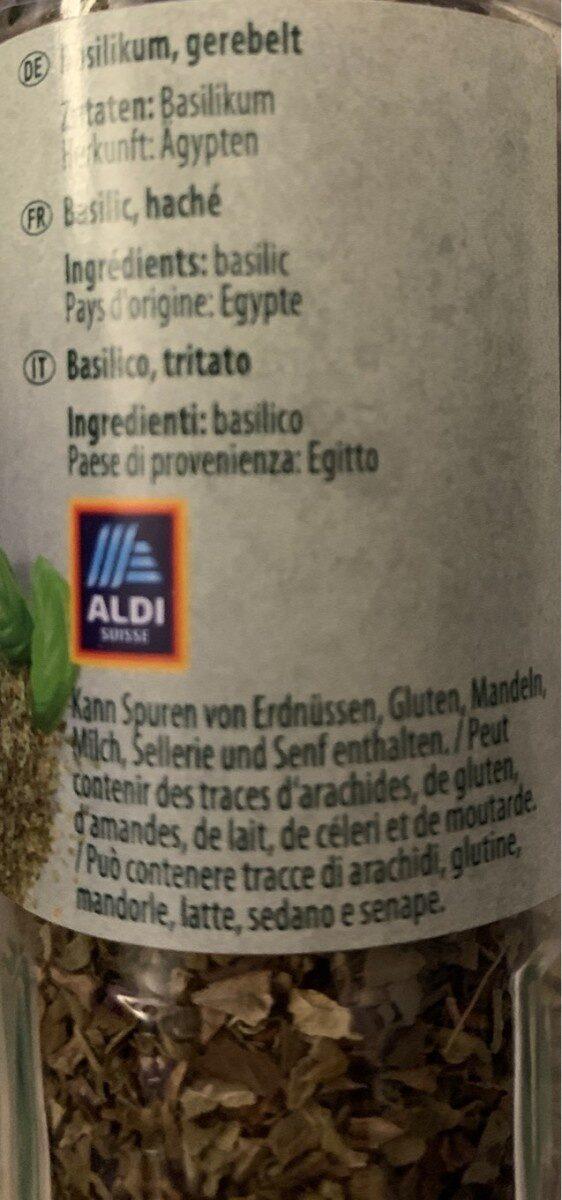 Basilikum - Valori nutrizionali - fr