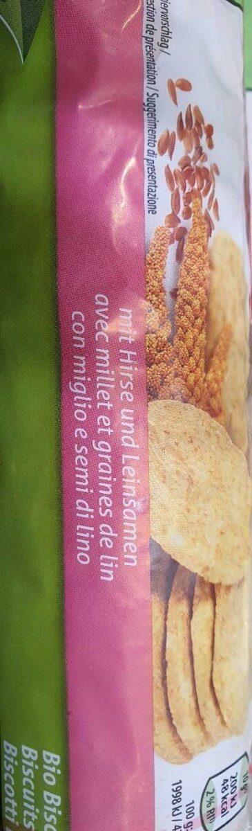 Biscuit Bio avec millet et graines de lin - Product - fr
