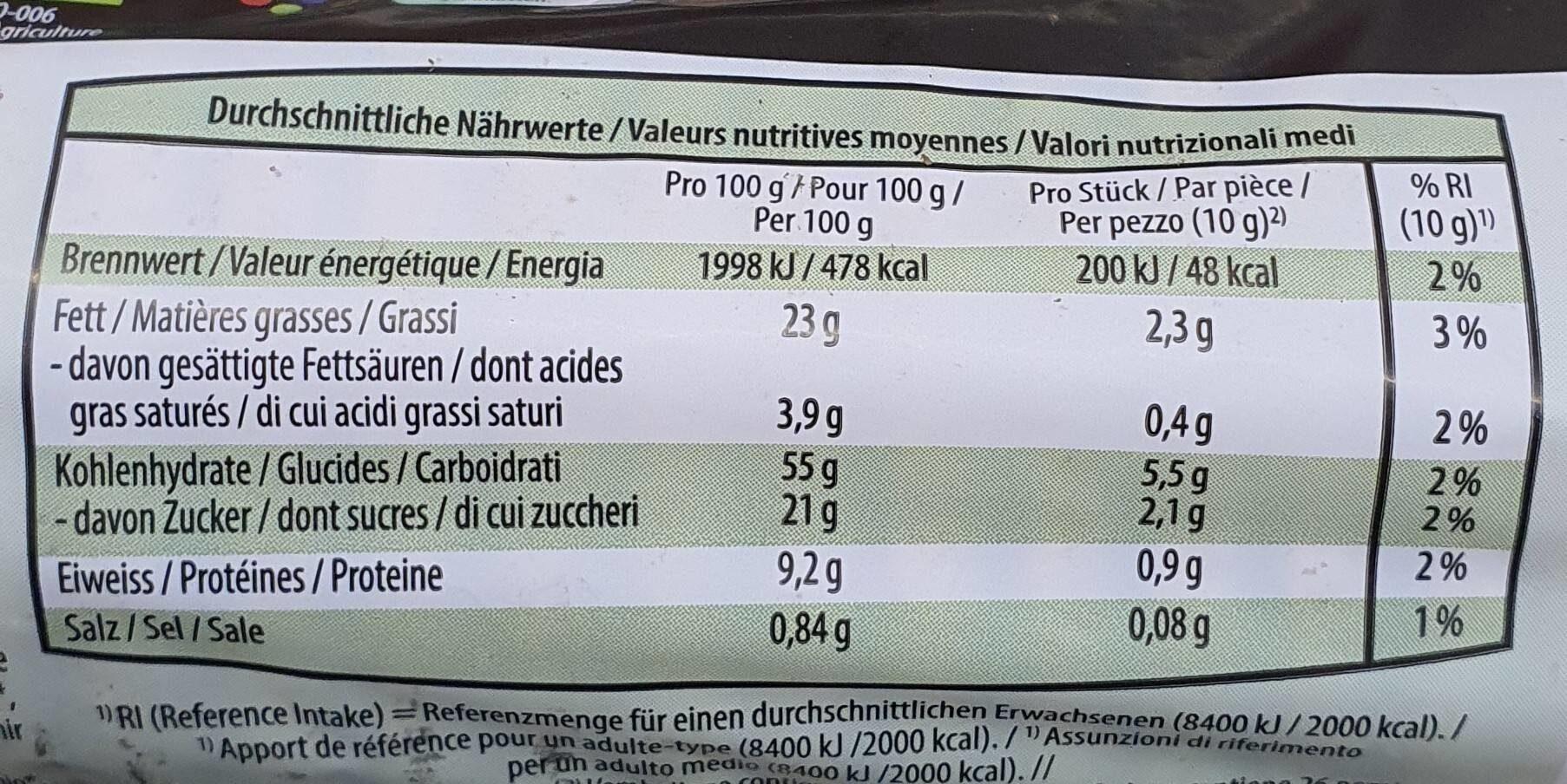 Biscuit Bio avec millet et graines de lin - Nutrition facts - fr