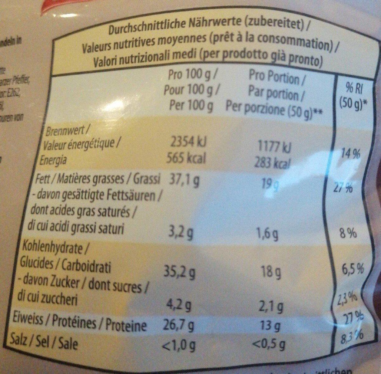 Amande grillées et salées, au goût fumé - Valori nutrizionali - fr