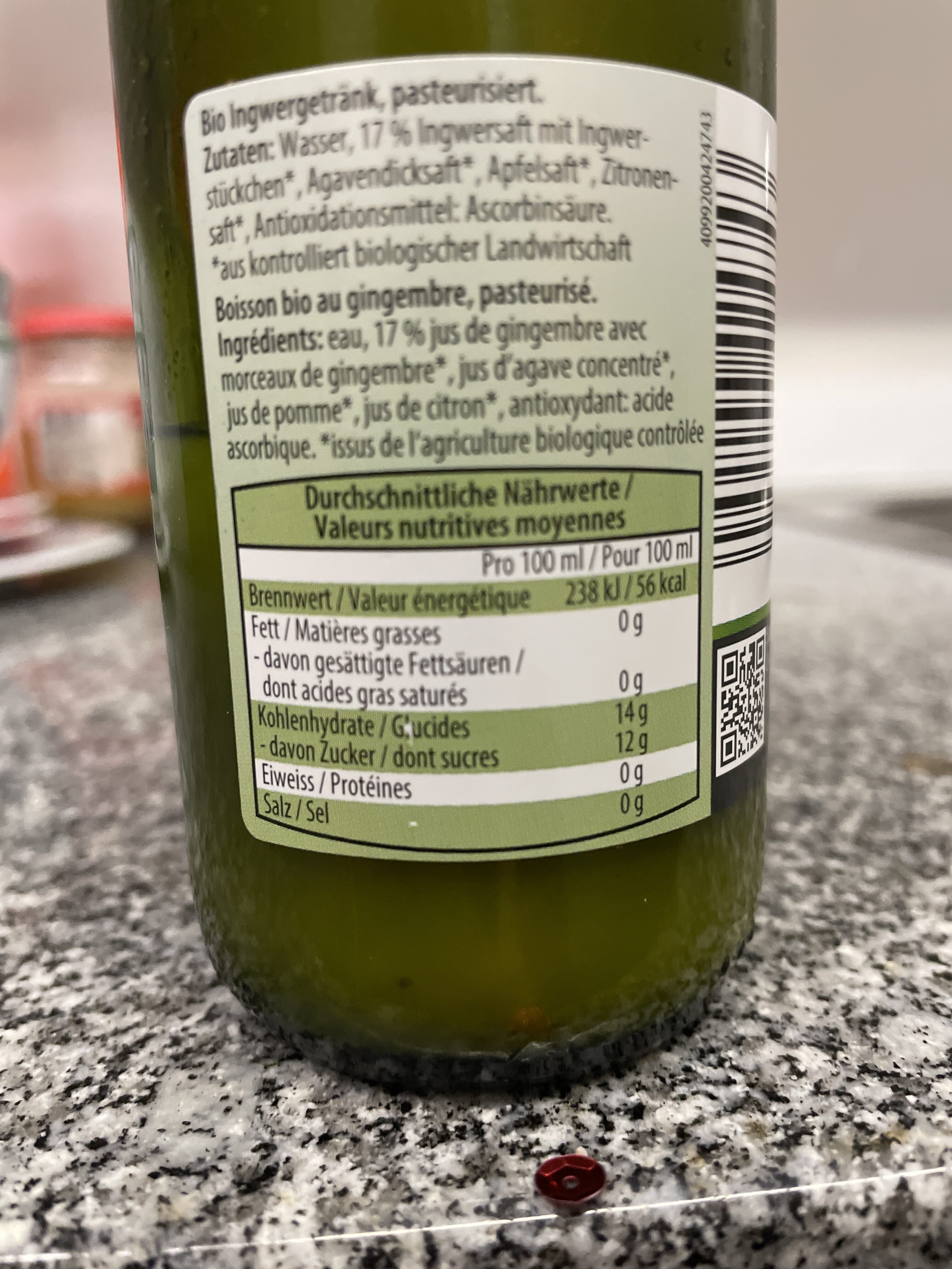 Ingwer Gingembre - Nutrition facts - de
