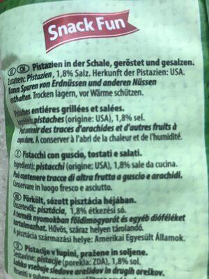 Pistachios Roastee - Ingrediënten - fr
