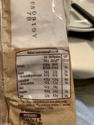 Pane Bauletto a fette - 8 cereali e Soia - Informations nutritionnelles