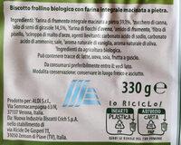 Frollini integrali - Ingredienti - it