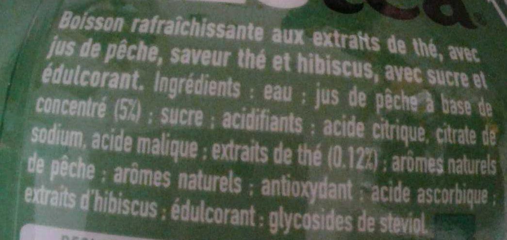 Thé noir évasion pêche et saveur hibiscus - Ingrédients - fr