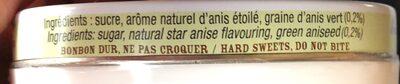 Les anis de Flavigny - Ingredients