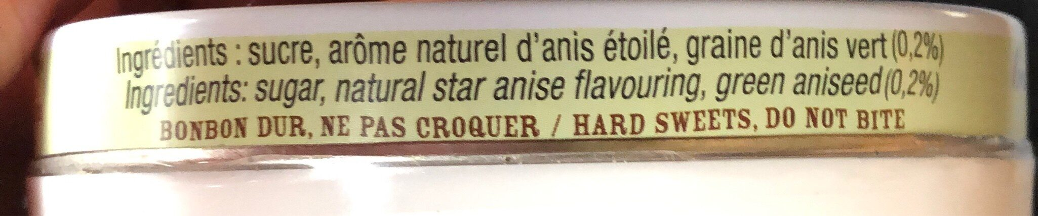 Les anis de Flavigny - Ingredients - fr