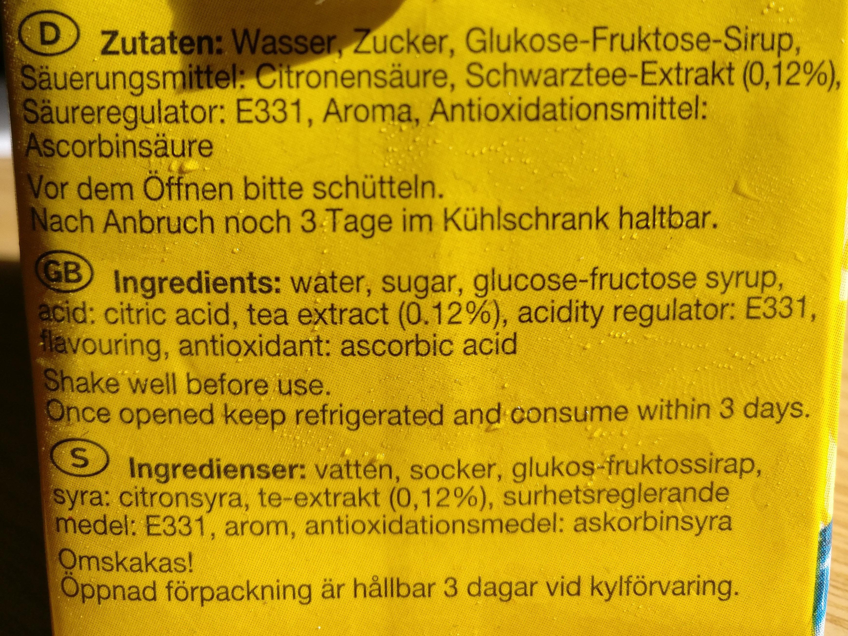 Durstlöscher Eistee Zitrone - Ingrediënten