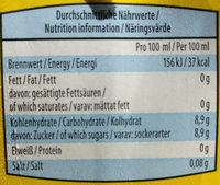 Durstlöscher Eistee Zitrone - Voedigswaarden