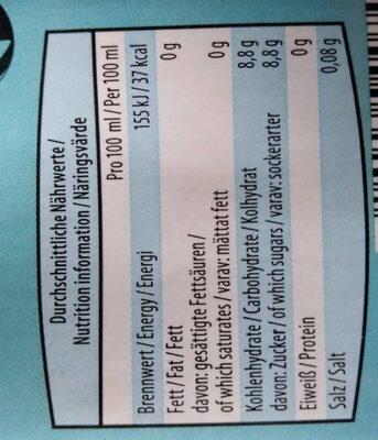 Eistee Zitronen-Geschmack - Informations nutritionnelles