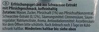 Durstlöscher Eistee Pfirsich - Ingredienti - de