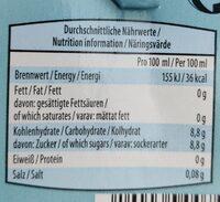 Durstlöscher Eistee Pfirsich - Informazioni nutrizionali - de