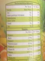 Multivitamin 12-Fruchtgetränk - Nährwertangaben - de