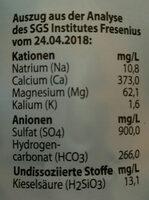 Extaler Mineralwasser - Ingredienti - de