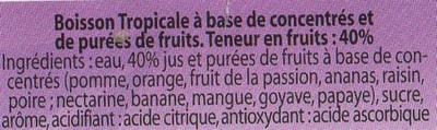 Jus de fruit Tropical concentré - Ingrediënten - fr