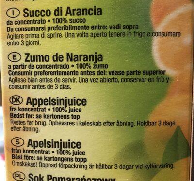 8 Paquets De Pur Jus D'orange 100% - Elopack - Bouchon Twisté - Ingredienti - fr