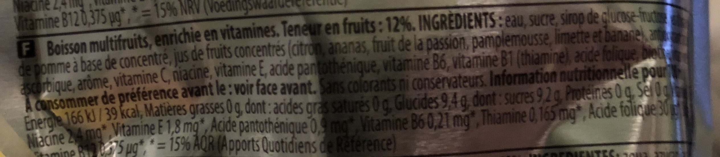 Multifruit Juice Drink - Ingrédients
