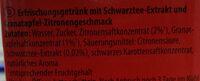 Durstlöscher Granatapfel-Zitronen-Geschmack - Ingredients - de
