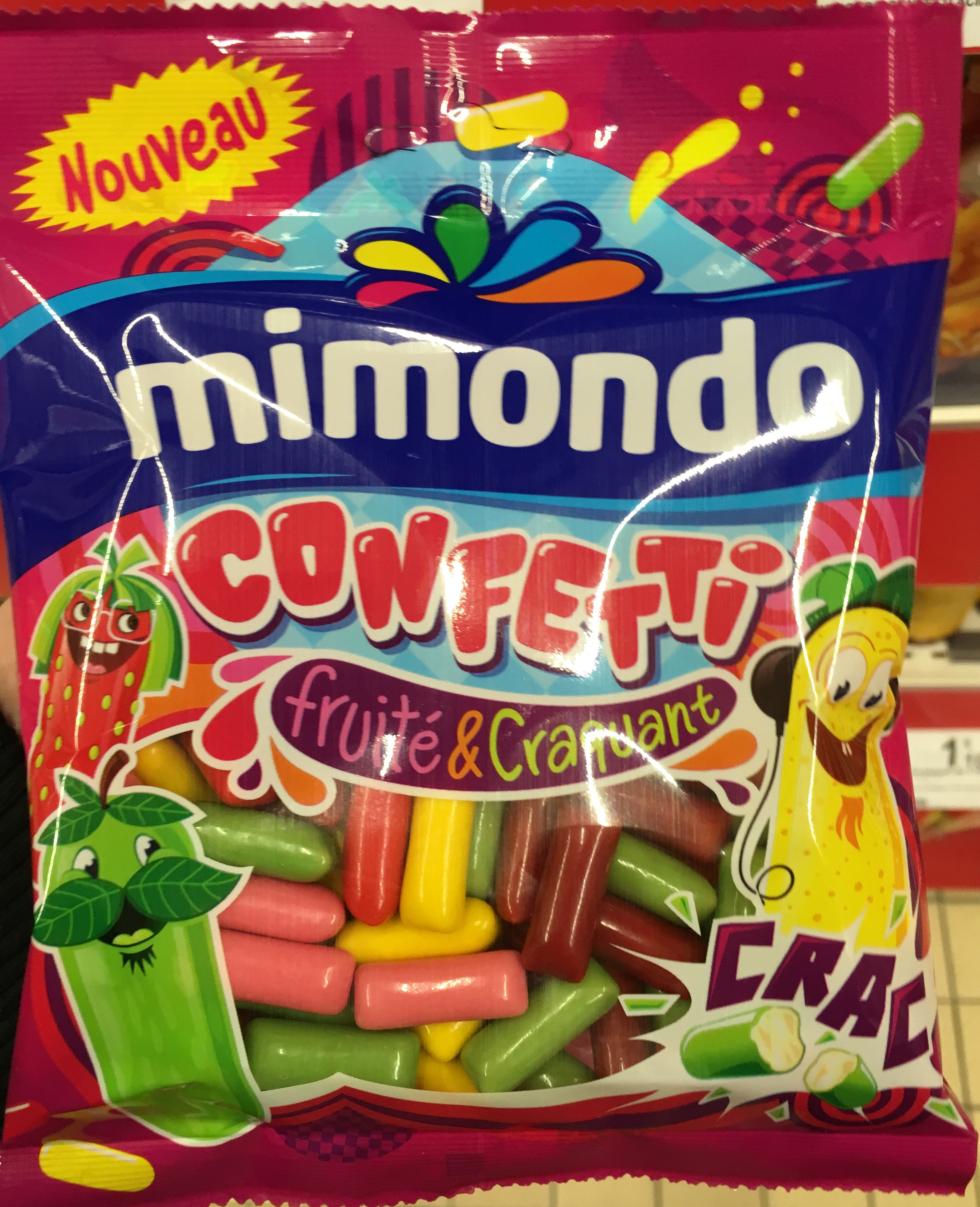 confetti fruit craquant mimondo 190 g