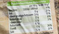 Das Pure Haferbrot mit Ölsaaten - Nutrition facts - de