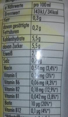 Vanille Geschmack - Nutrition facts - de