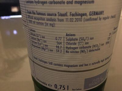 Staatl. Fachingen - Ingredients