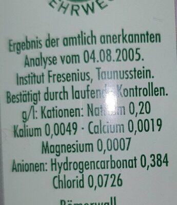 First Class - Valori nutrizionali - de