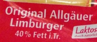 Limburger - Ingrediënten