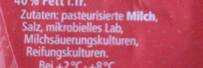Limburger - ser miękki 40% tłuszczu - Zutaten - de