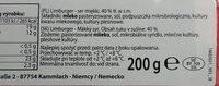 Limburger - ser miękki 40% tłuszczu - Składniki - pl