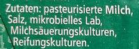 Limburger - Ingrédients - de