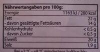 Striegistaler Zwerge - Informations nutritionnelles - hu