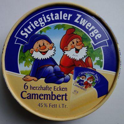 Striegistaler Zwerge Camembert 6 herzhafte Ecken - 45% Fett i. Tr. - Product - de