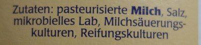 Striegistaler Zwerge Camembert 6 herzhafte Ecken - 45% Fett i. Tr. - Ingredients - de
