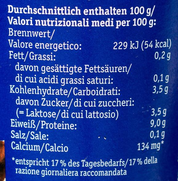 Cremiger Bio-Quark mit mildem Joghurt - Voedingswaarden - de