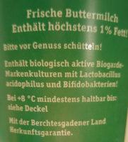Buttermilch Berchtesgadenern - Ingrédients - de