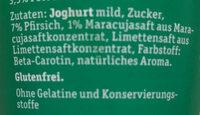 Milder Fruchtjoghurt Pfirsich-Maracuja - Ingredients
