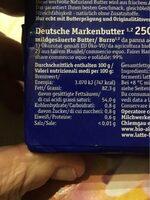 Bio-Alpenbutter - Nutrition facts - de