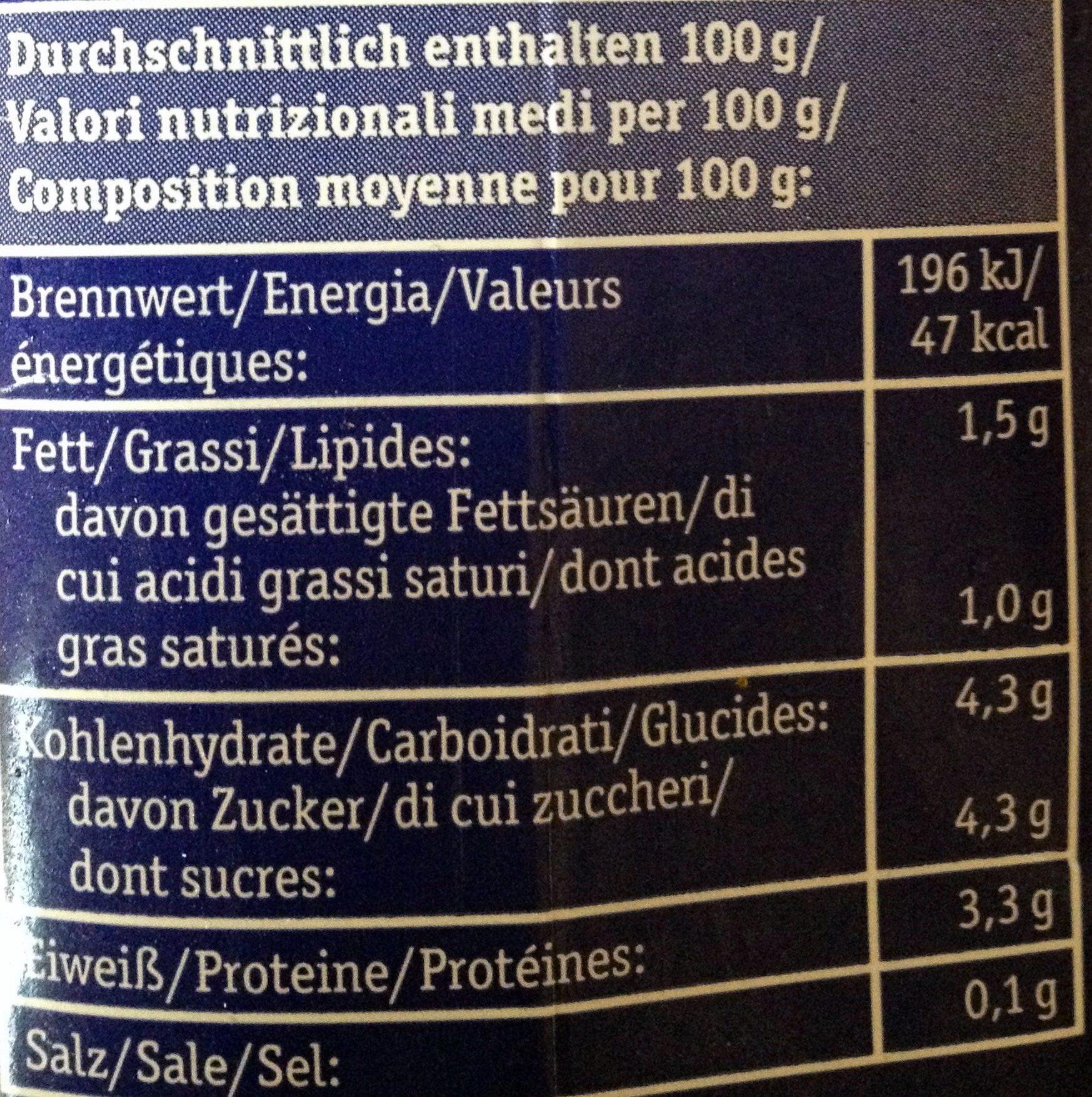 Fettarmer Bio-Kefir mild - Nutrition facts