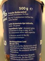 Bio-Buttermilch - Ingrédients - de