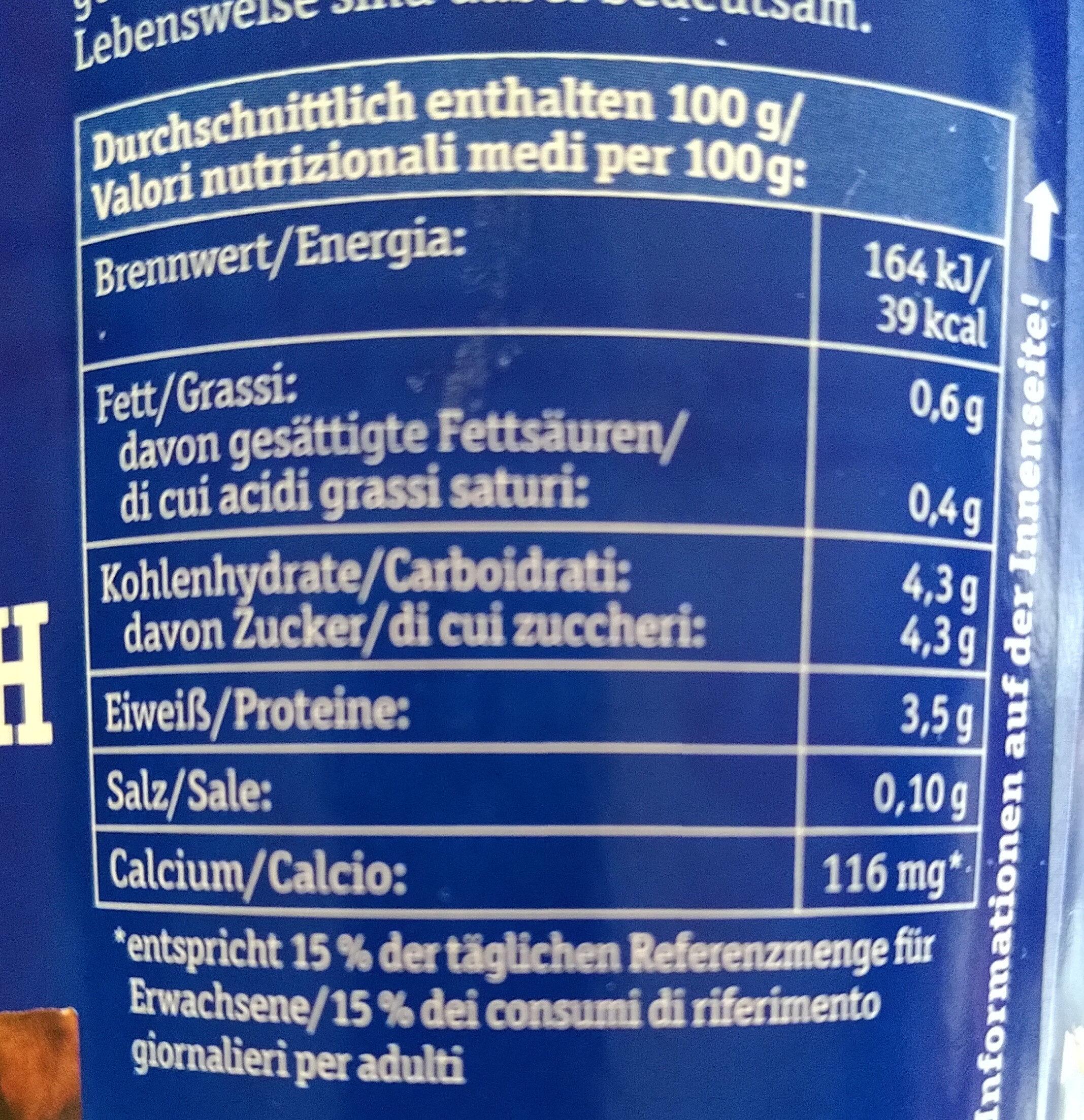 Bio-Buttermilch - Informations nutritionnelles - de