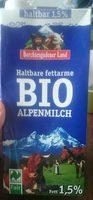 Haltbare fettarme Bio-Alpenmilch - Product