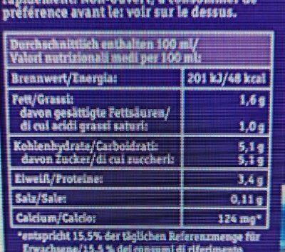 Haltbare Bergbauern Milch, 1, 5 % - Nährwertangaben - de
