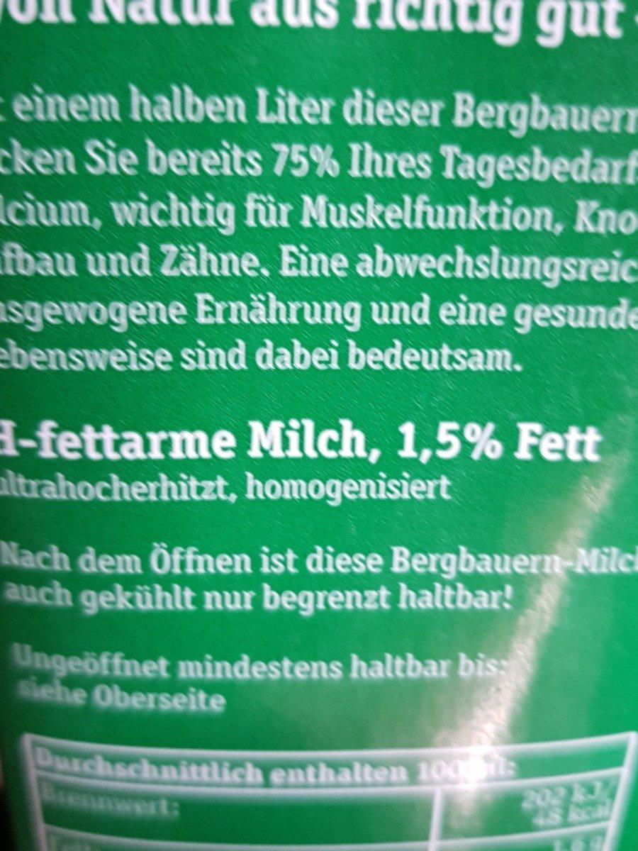 Haltbare Bergbauern Milch fettarm - Ingrédients - fr