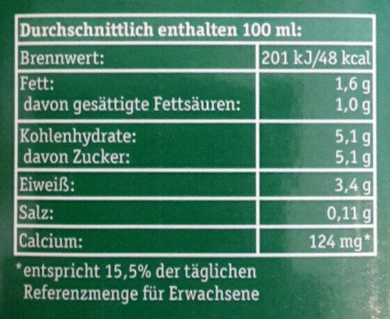 Haltbare Bergbauern Milch fettarm - Nutrition facts - de