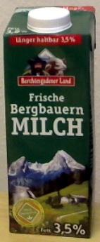 Frische Bergbauern Milch - Produkt