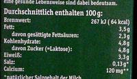 Frische Bergbauern Milch - Nährwertangaben