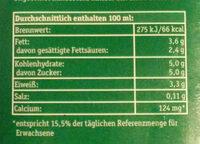 Frische Bergbauern Milch - Voedingswaarden - de