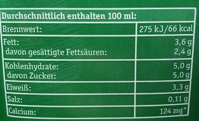 Frische Bergbauern Milch - Informations nutritionnelles - de