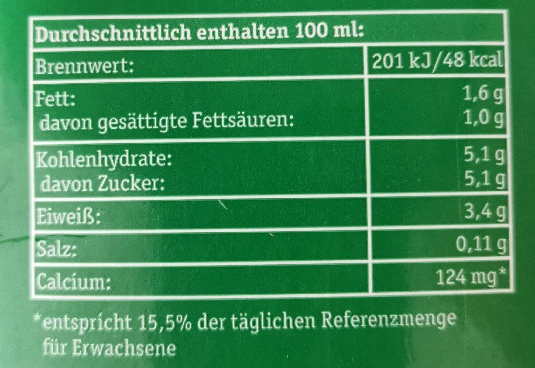 Frische Berhauernmilch 1,5% - Informations nutritionnelles - de